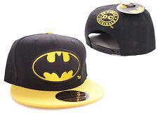DC COMICS CLASSIC BATMAN SYMBOL BLACK & YELLOW SNAPBACK CAP HAT *BRAND NEW*