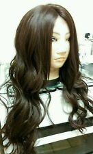 Dark Brown Human Hair Wig, Real Hair, Hair Blend, Brunette, lace front, Black