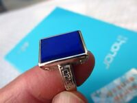 AAA+++ NATURAL PRETTY   LAPIS LAZULI crystal  RING   D1