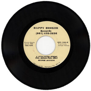 """GEORGE JACKSON """"A LITTLE EXTRA STROKE c/w SAM, WE'LL NEVER..."""" 1985 SOUL MOVER"""