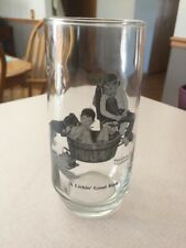 """Norman Rockwell """" A Lickin Good Bath"""" Glass Never Used"""