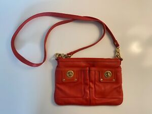 Marc by Marc Jacobs - Totally Turnlock Percy Red Leather Crossbody Purse Bag