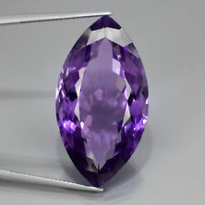 A PAIR OF 8x4mm MARQUISE-FACET DEEP-PURPLE NATURAL AFRICAN AMETHYST GEMSTONES