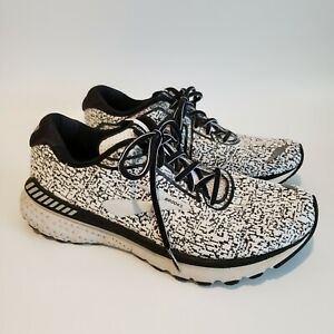 Brooks Adrenaline GTS 20 White Black Lace Up Running Sneakers Mens 11