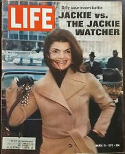 """Life Magazine """"Silly Courtroom Battle Jackie vs. The Jackie Watcher"""" March 31,72"""
