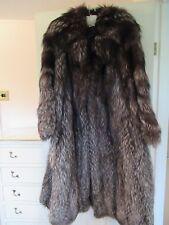 Impresionante Nueva Marca longitud completa calidad fina de lujo de piel de zorro plateado