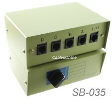 CablesOnline 4-Way RJ45 8P8C ABCD Manual Switch Box, SB-035