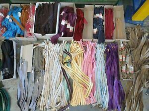Reißverschluss Mix-Posten verschiedene Farben & Längen 100 Stück neue Zipper