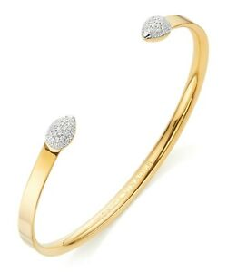 Monica Vinader Fiji Bud Diamond Cuff - 18ct gold version, RRP £495 / 99p Start!
