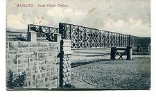 1939 Maniago Ponte Giulio Cellina destinazione La Spezia FP B/N VG
