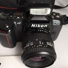 Nikon F601  Camera + Nikkor 35-80mm AF Zoom Lens with case, strap,