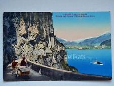 LAGO DI GARDA strada Ponale Riva e Monte Stivo vecchia cartolina
