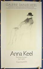 ANNA KEEL - Exhibition Poster - Ausstellungs-Plakat 1979 - Zürich