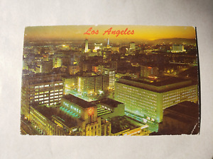 Vintage Postcard - Los Angeles Night Cityscape 1960s - Western Publishing