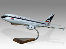 Airbus A310 Delta Airlines Solid Mahogany Wood Handcrafted Desktop Model