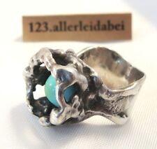 Original Oly Ring Turquoise 835 Silver Monika & BURGHARD OLY Modernist/am 618