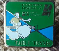 Table Tennis U.S. Olympic Festival lapel pin pre-owned 1987 NCAS North Carolina
