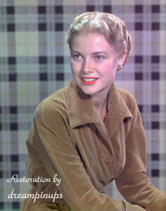 GRACE KELLY 1951 Oversized 11x14 Color Portrait SMILING BEAUTY