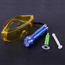 Car Auto 14 LED Flash Light Safety Glasses & Fluorescent Oil A/C Gas UV Leak Kit