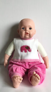 Life Like Soft Bodied Bibi Baby Girl Doll With Sounds 18""