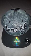 NIKE JORDAN VARSITY 23 GREY BLACK NEW KIDS SNAPBACK HAT CAP 9A1683 146 YOUTH