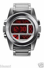 Nixon Original Unit SS A360-1263 Silver / Red 44.5mm Watch