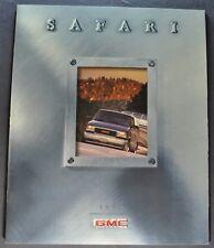 1999 GMC Safari Van Truck Catalog Brochure SL SLE SLT Excellent Original 99
