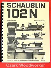 SCHAUBLIN No.102N Series High Precision Metal Lathes Catalog Manual 0895