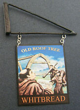 1:12 Scale Old Roof Tree Pub Sign & Bracket Doll House Miniature Accessory