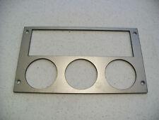 Ford Mustang 87-93 radio triple gauge panel for 2 1/16 inch gauges STEEL