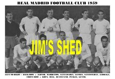 REAL MADRID TEAM PRINT 1959 (DI STEFANO/PUSKAS/GENTO)