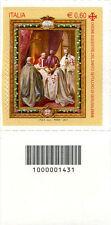 2011 francobollo Ordine Equestre del Santo Sepolcro SX CON CODICE A BARRE 1431