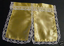 1:12 Scale Yellow Satin Curtains Dolls House Miniature Material 16cm Drop