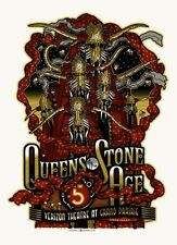 Queens of the Stone Age 2013 Houston Tx Poster Signed & Numbered #/210
