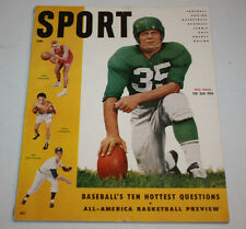 Sport Magazine | January 1955 | Pete Pihos Art Houtteman Cover
