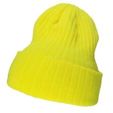 76e1445eaa935 Beanie Hat Ribbed Thick Knit Ski Cap Skull Warm Solid Slouchy Winter Cuff  Blank