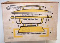 Serv-Master 2-Quart Covered Casserole and Warmer Vintage    S8712