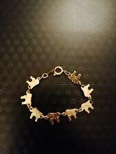 Baby Kinder Armband Schmuck Elefanten Gold PL-18K  Geburt Taufe Geschenk