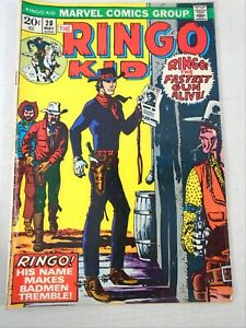 Marvel Comic Book THE RINGO KID 1973 Vol 1 No 20 May Fastest Gun Alive Badmen