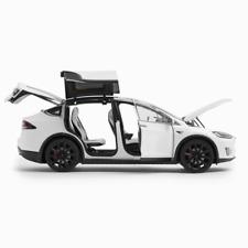 Official Tesla Model X P100D White With Black Replica 1:18 Scale Die-Cast Car