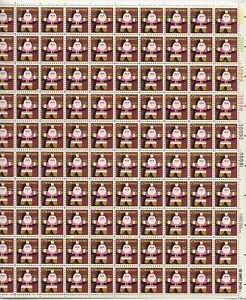 1979 15 cent Christmas Santa Full Sheet of 100 Scott #1800, Mint NH