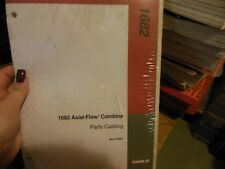 Case International Harvester Axial Flow Combine 1682 Parts Catalog NEW