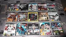 LOT PS3 17 JEUX DIVERS DONT UNCHARTED 2/3,GTA 5,TWD, FIFA,PES, ACIV, DMC ETC FR