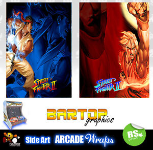 Street Fighter 2 sides Arcade Artwork Bartop Sides Overlay Graphic Stickers