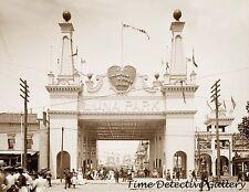 Luna Park Entrance, Coney Island, New York - 1905 - Historic Photo Print