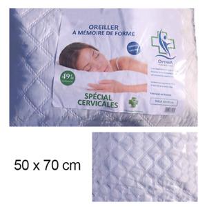 Oreiller de lit a mémoire de forme pharmaceutique optima 50x70cm SP CERVICALES