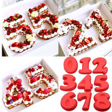 0-8 Silicone Numbers Cake Tin Mould Birthday Anniversary Pastry Baking Tools