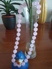 "12mm Beautiful Naturalquartz crystal gemstonebeads necklace 18""- UK seller"