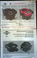 Briggs and Stratton Engine Owners Manual