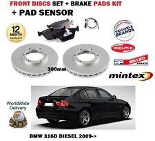 Für BMW 316D E90 2009- > Vorne Bremse 300mm Scheibe Satz und Bremsbeläge +